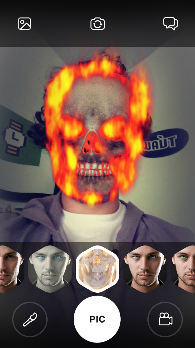 Amazing Looksery app changes your face in real time
