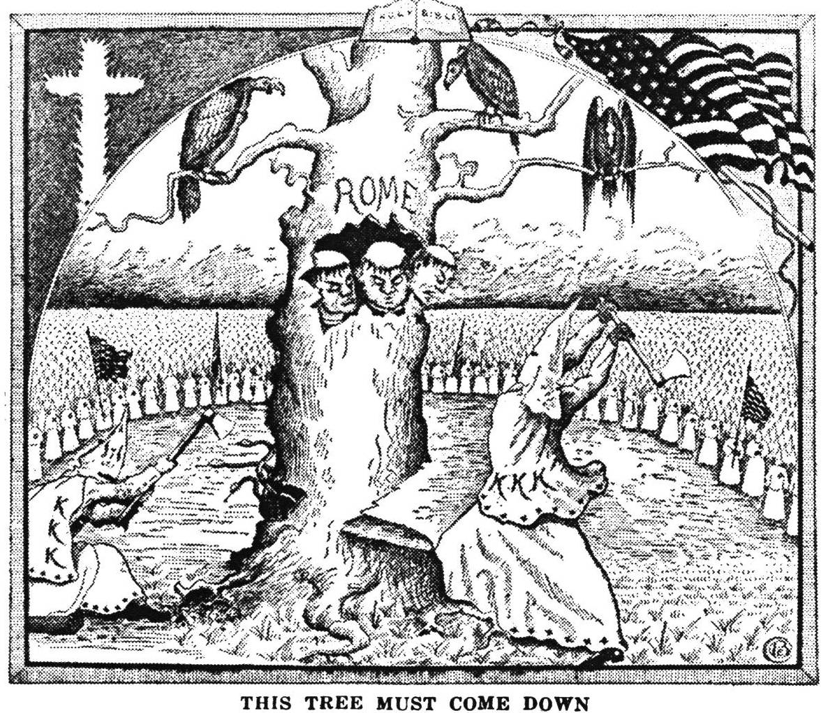 "An illustration from ""The Ku Klux Klan In Prophecy,"" a book written by Bishop Alma Bridwell..."