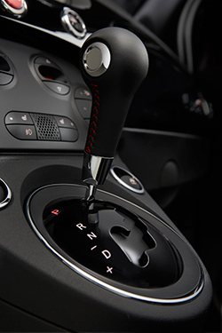 2015 Fiat 500 Abarth automatic gearshift lever