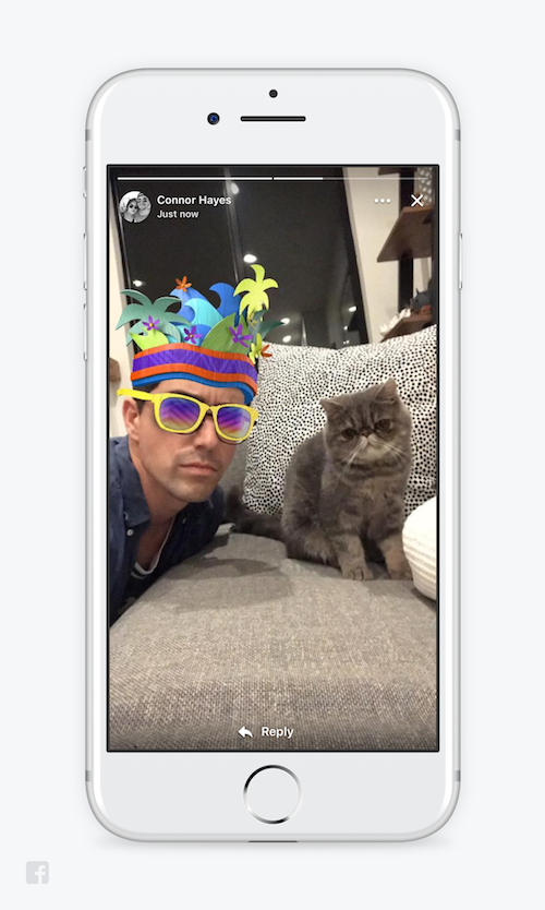 Facebook adds nearly everything Snapchat does to its main app