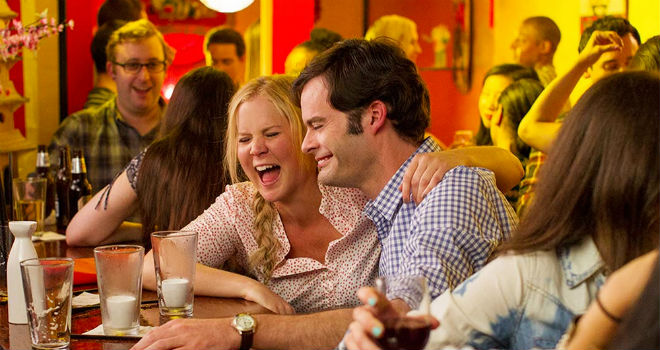 amy schumer and bill hader in trainwreck 2015