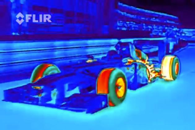 【ビデオ】カッコ良くて美しい! レッドブルがサーマルカメラで捉えたF1マシンの映像を公開!