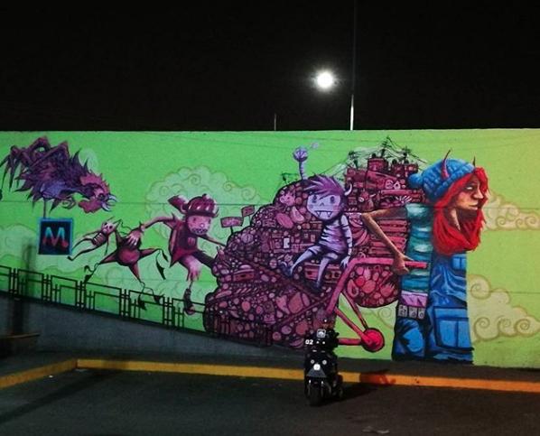 Dentro de la Central de Abastos de CDMX hay 7 mil metros cuadrados de murales, que convierten a #CEDACDMX...