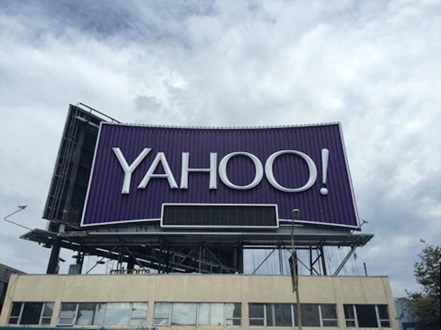 Yahoo's billboard circa 2015