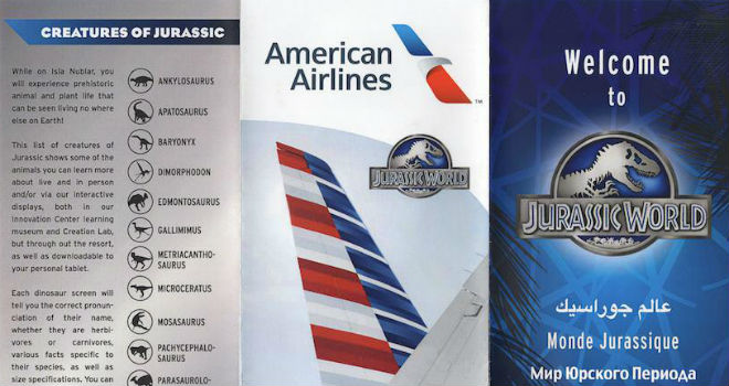 jurassic world pamphlets