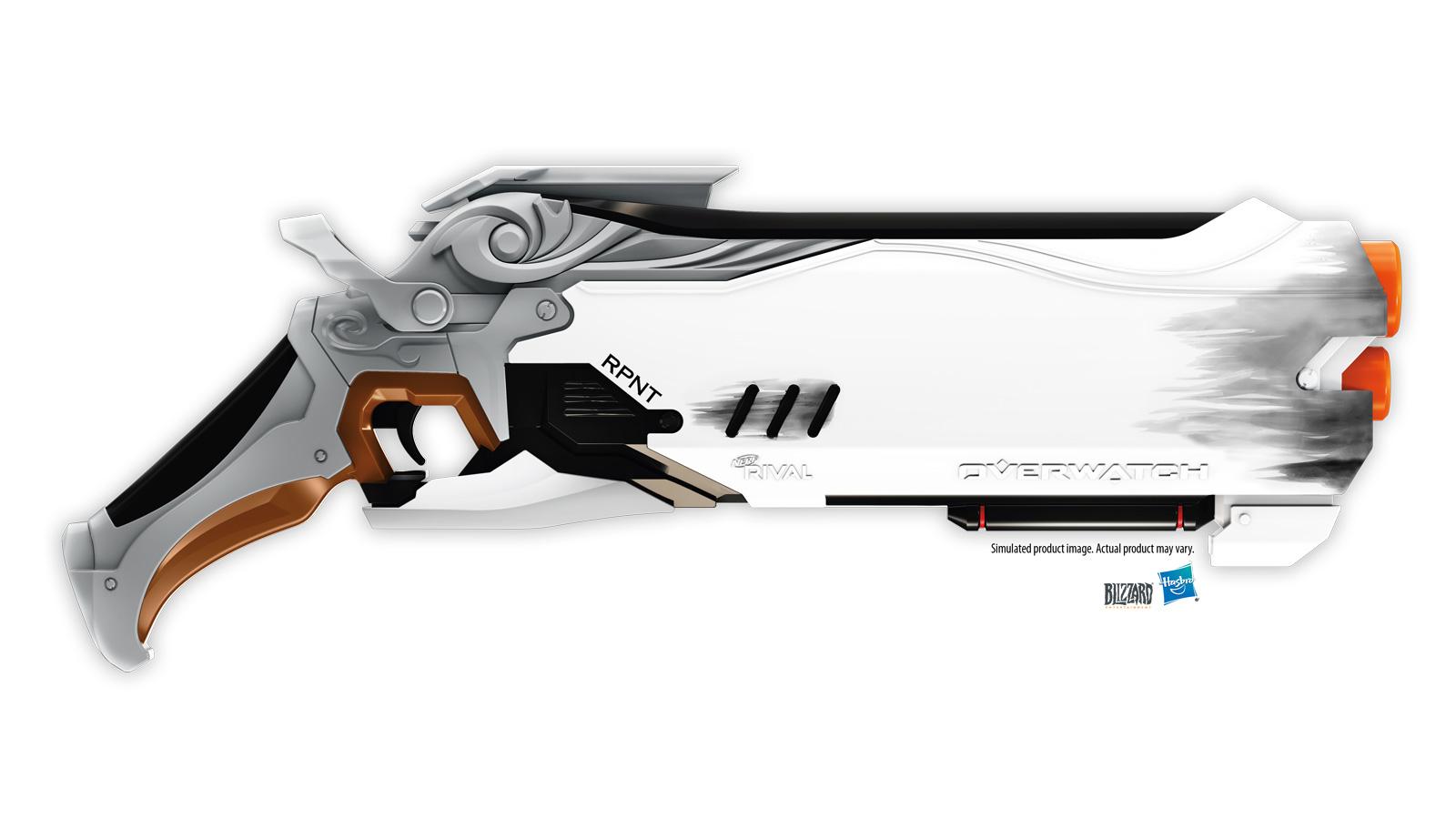 おもちゃ銃 nerf のoverwatchコラボモデル発表 8月にはスマホ連動