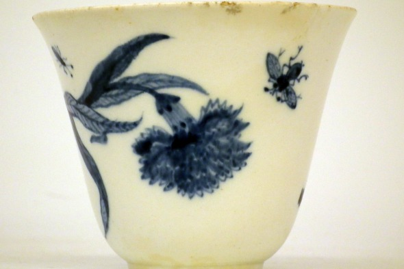 Chelsea porcelain beaker sold at auction