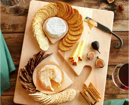Cheese & Crackers Serving Board Christmas Gift