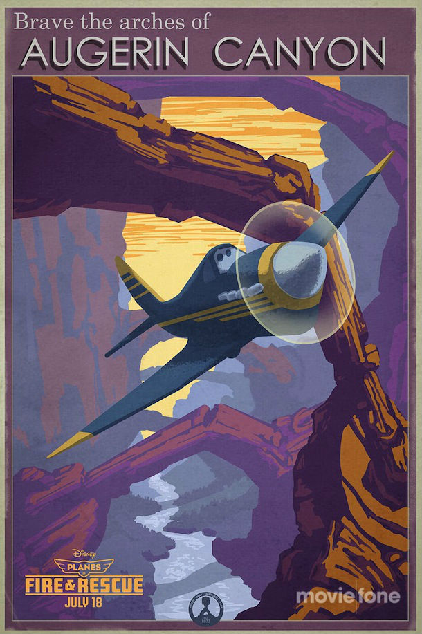 planes fire and rescue vintage posters