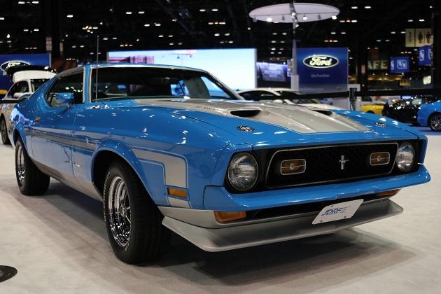 【シカゴオートショー2017】フォード、チャリティのために新車同然にレストアされた1971年型「マスタング マッハ1」を展示