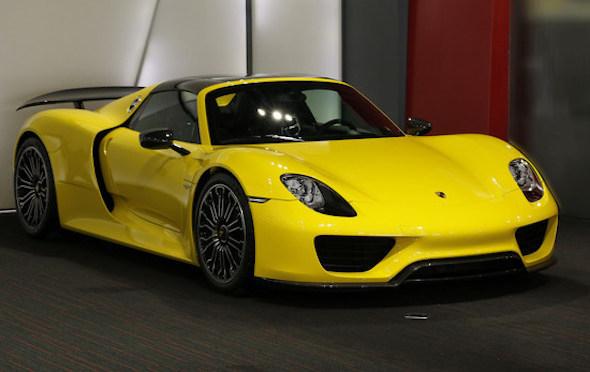 Bright yellow Porsche 918 hits the market - AOL