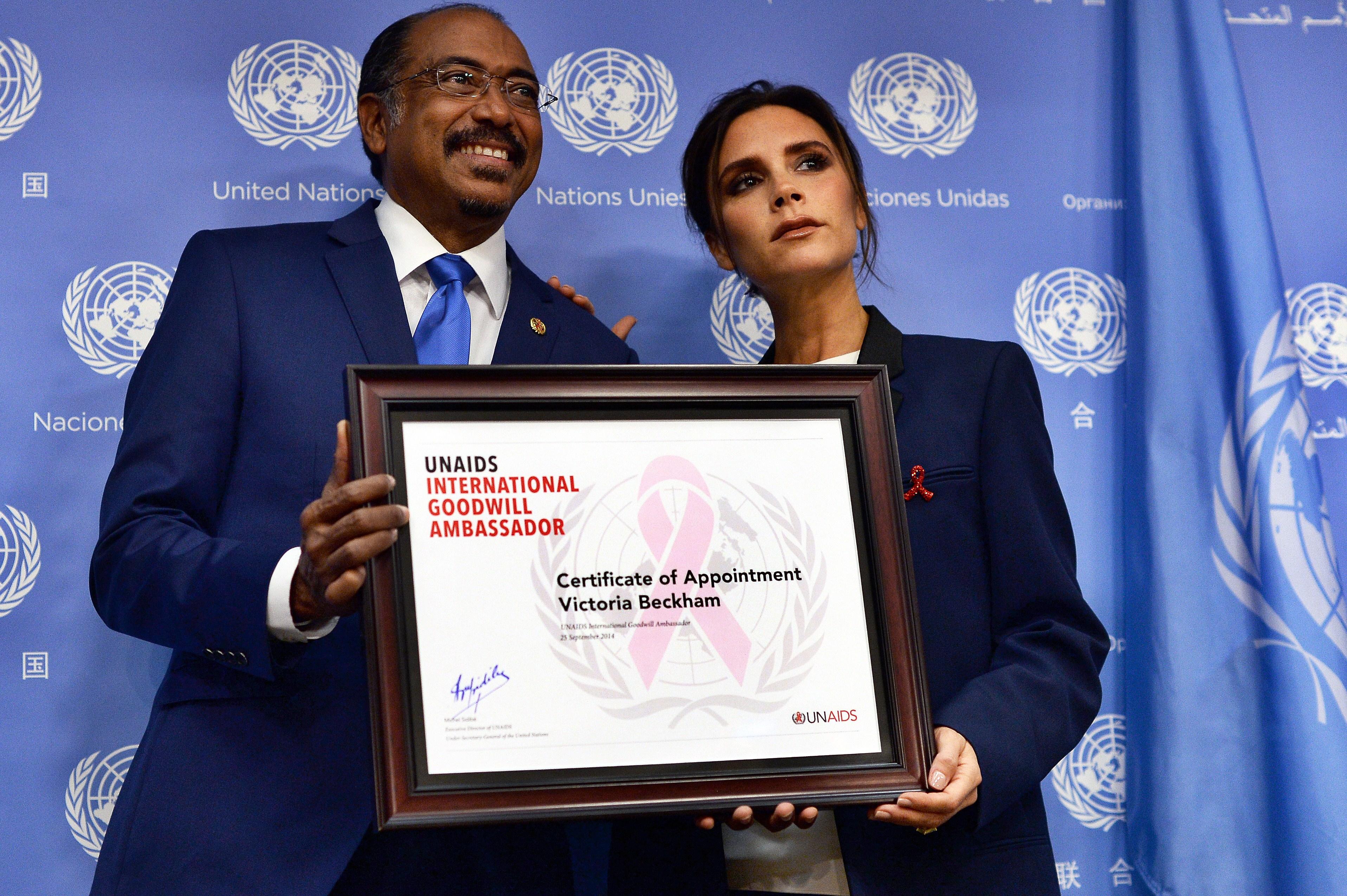 UN-GENERAL ASSEMBLY-UNAIDS-BECKHAM