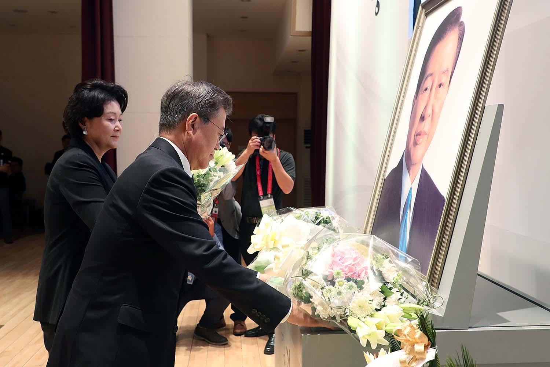 昨年8月18日、故金大中大統領の追悼式で