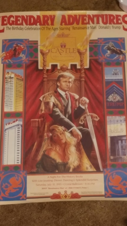 Donald trumps 1993 birthday invitation envisioned him as a king check out the photo below stopboris Gallery