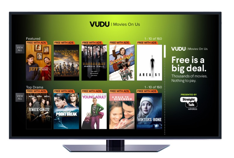 Vudu Launches Free Service, Vudu Movies on Us
