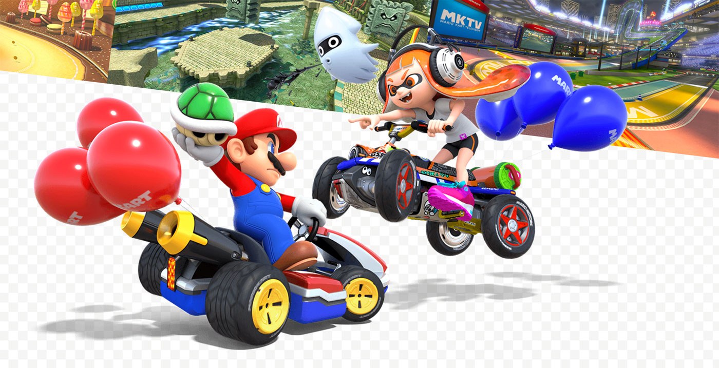 mario kart 8 deluxe on the switch is basically perfect