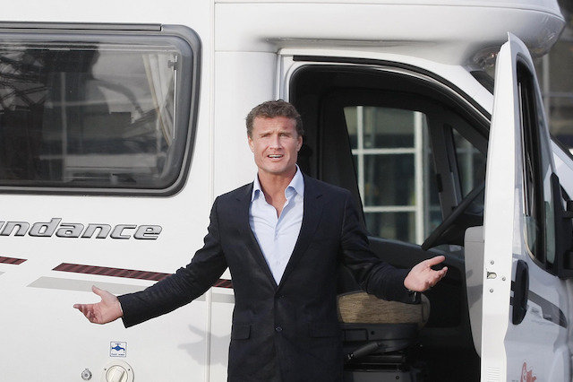 Former Formula One driver David Coulthard during a photocall at the official opening of The Scottish Caravan and Outdoor Leisure Show at the SECC in Glasgow.