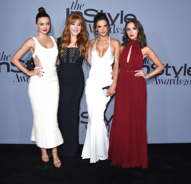 Miranda Ker, Charlotte Tilbury, Alessandra Ambrosio and Olivia Culpo. Getty.
