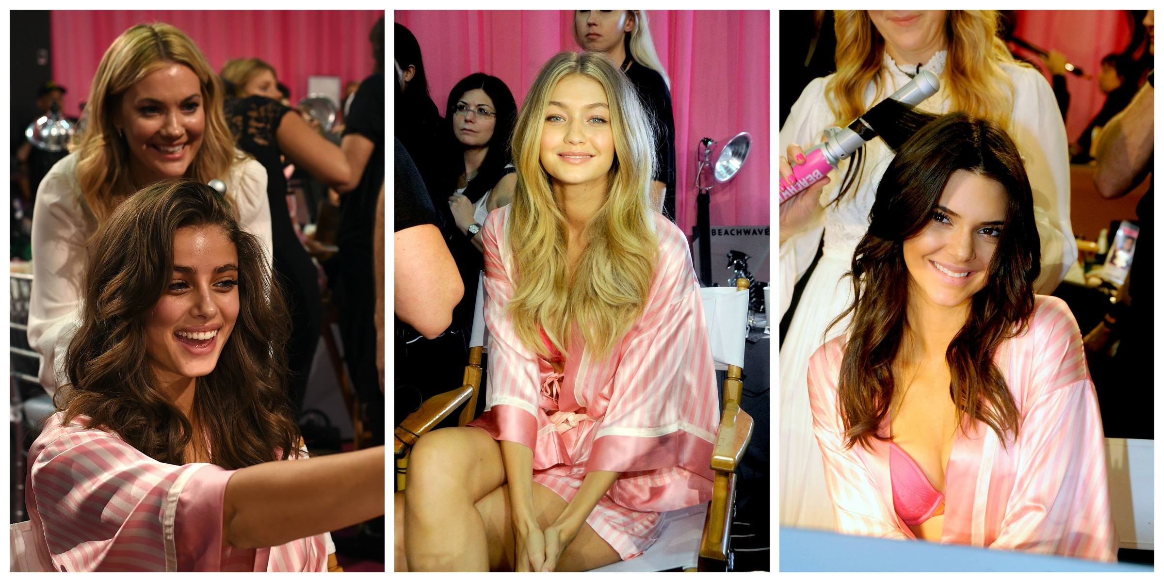 Victoria's Secret Fashion Show backstage, hair tutorial, Beachwaver, Sarah Potempa