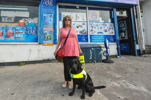 Guide dog, Natalie, was thrown out of shop