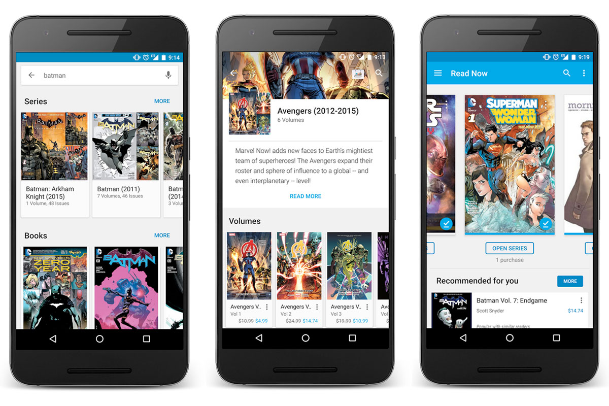 Google Play Books is more comic friendly thanks to vertical
