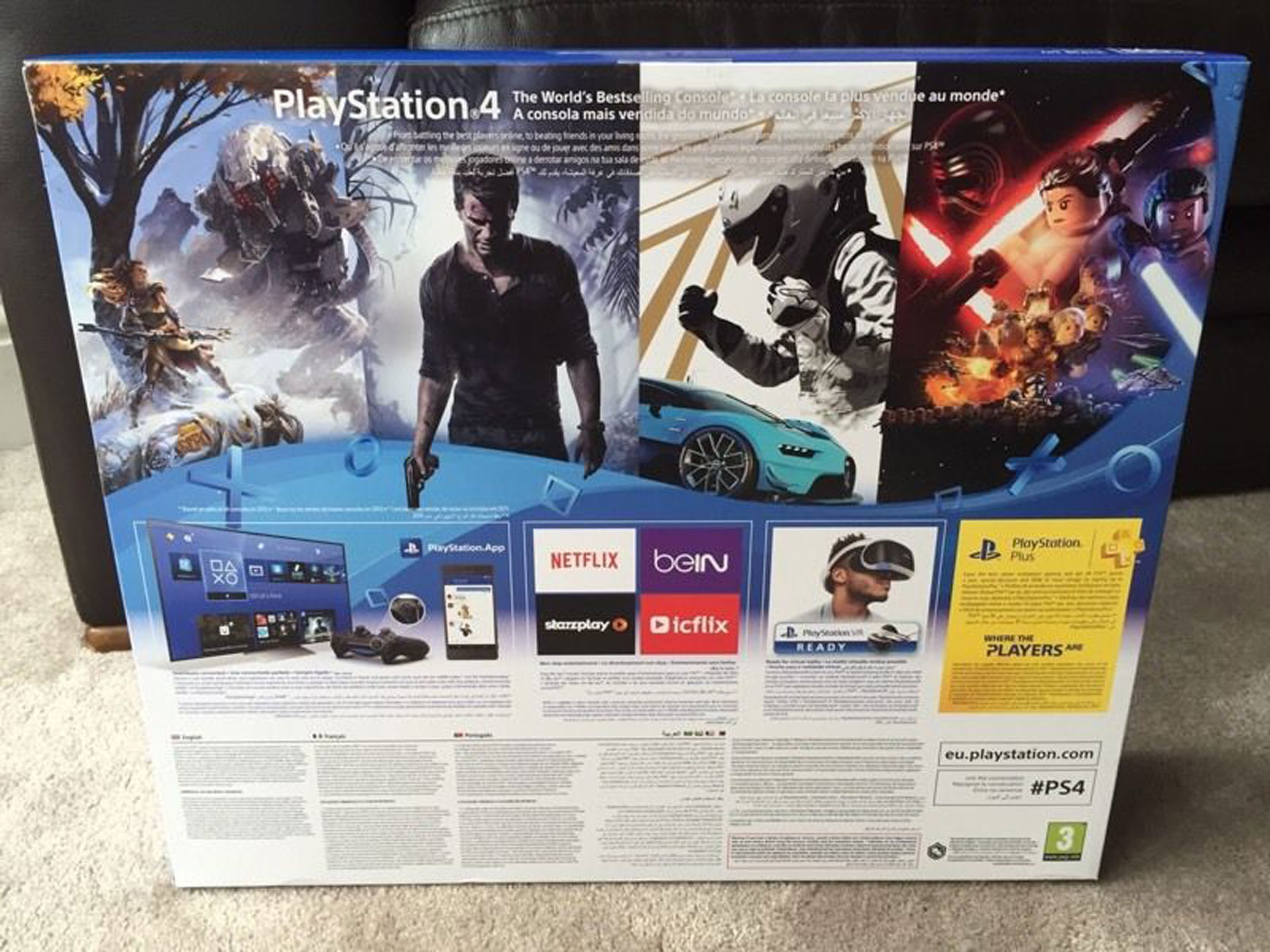 The PS4 'slim' box