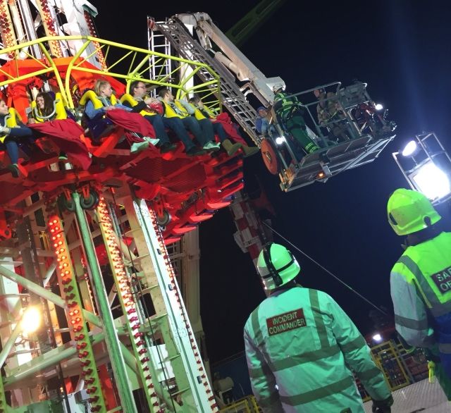 Hull Fair ride trapped people