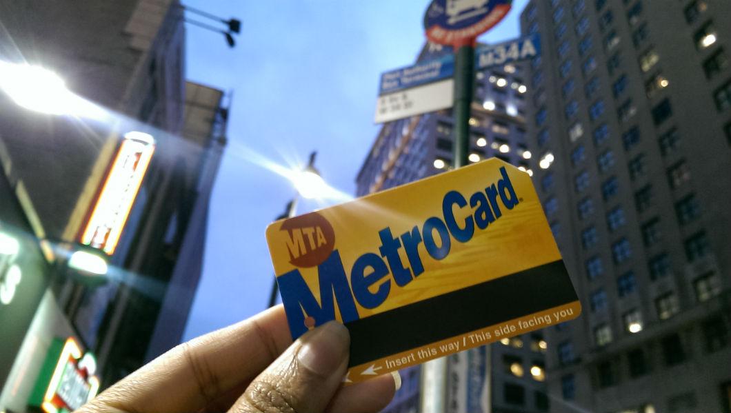 nyc mta metro card bus stop