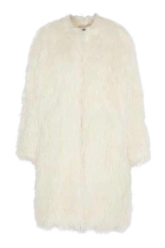 DKNY oversize faux-fur coat