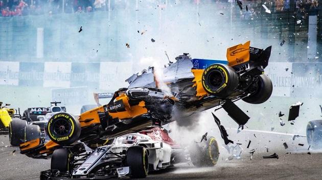 F1ベルギーGPでの多重クラッシュで、コックピット保護デバイス「ハロ」の重要性が再認識される