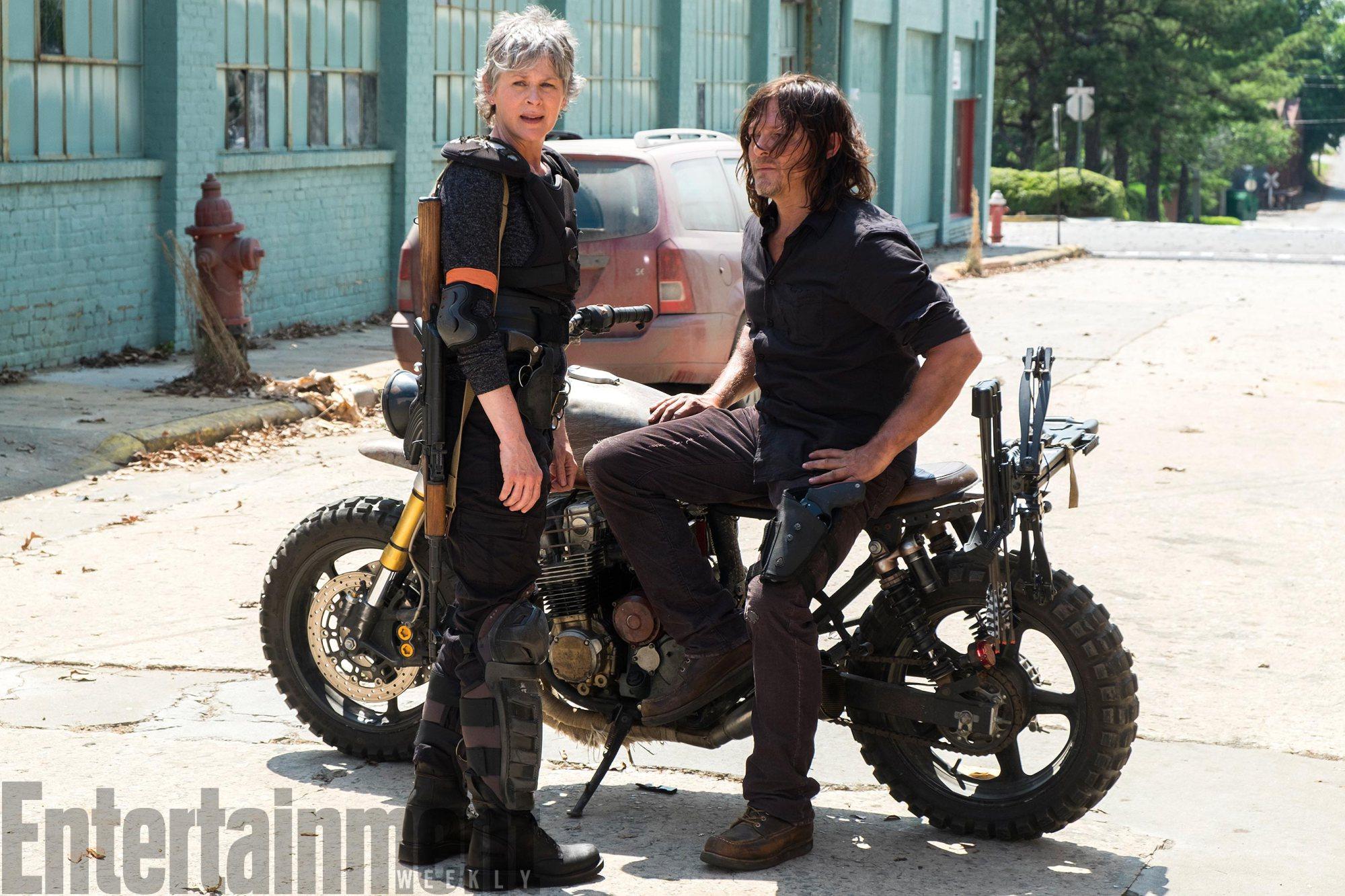 The Walking DeadSeason 8, Episode 1Melissa McBride as Carol Peletier, Norman Reedus as Daryl Dixonâ€
