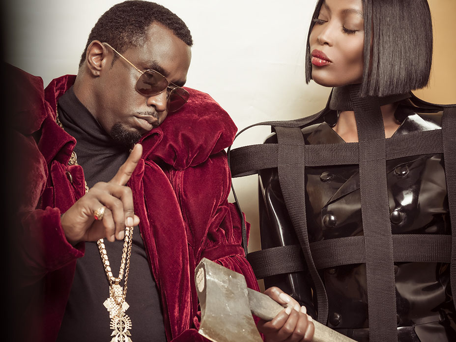 P. Diddy and Naomi Campbell in the 2018 Pirelli