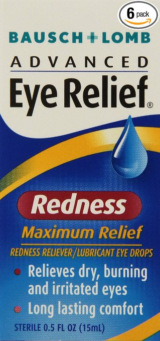 Eye redness relief drops