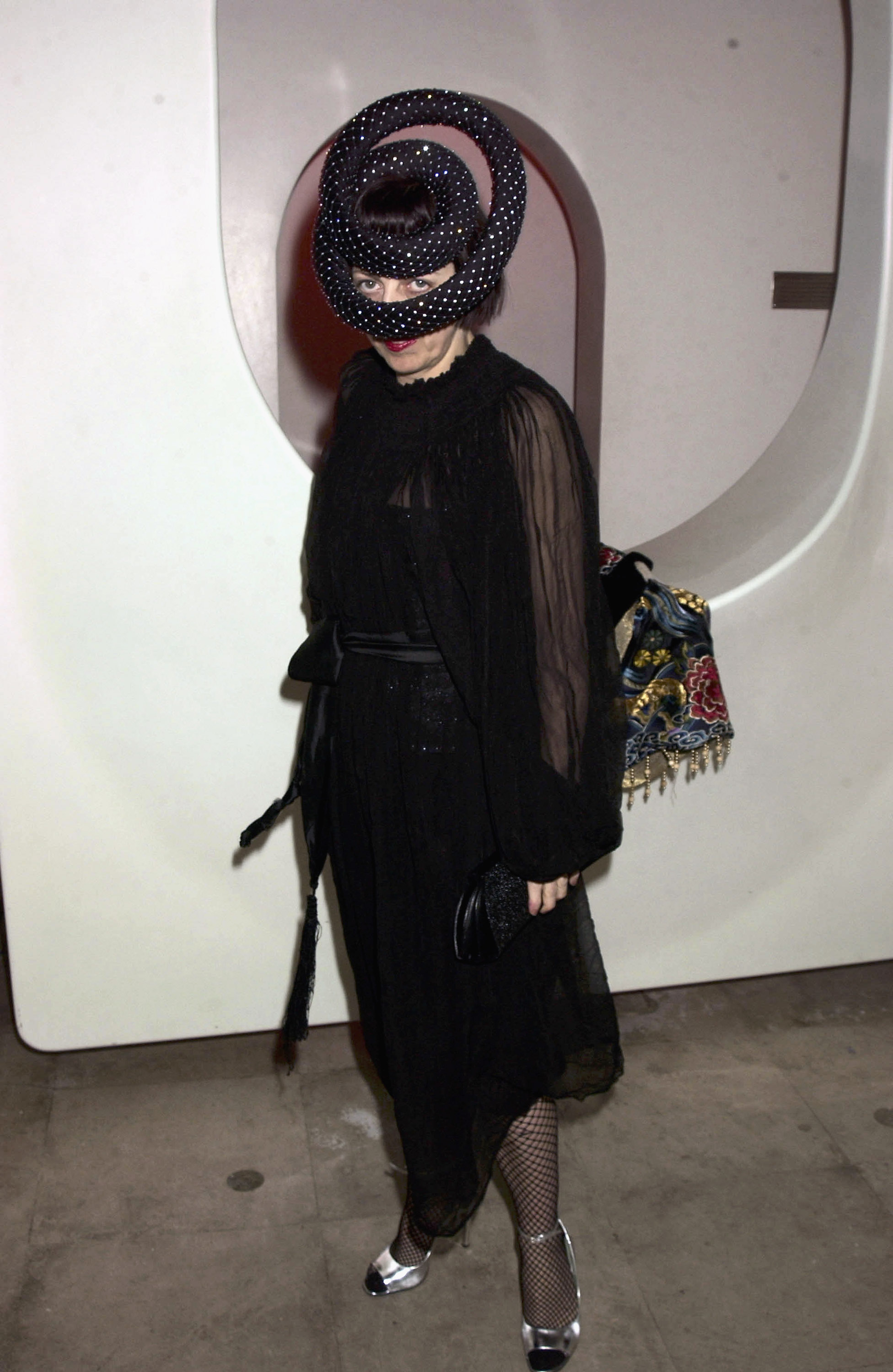 Isabella Blow at the Swarovski Jewellery Fashion Show in