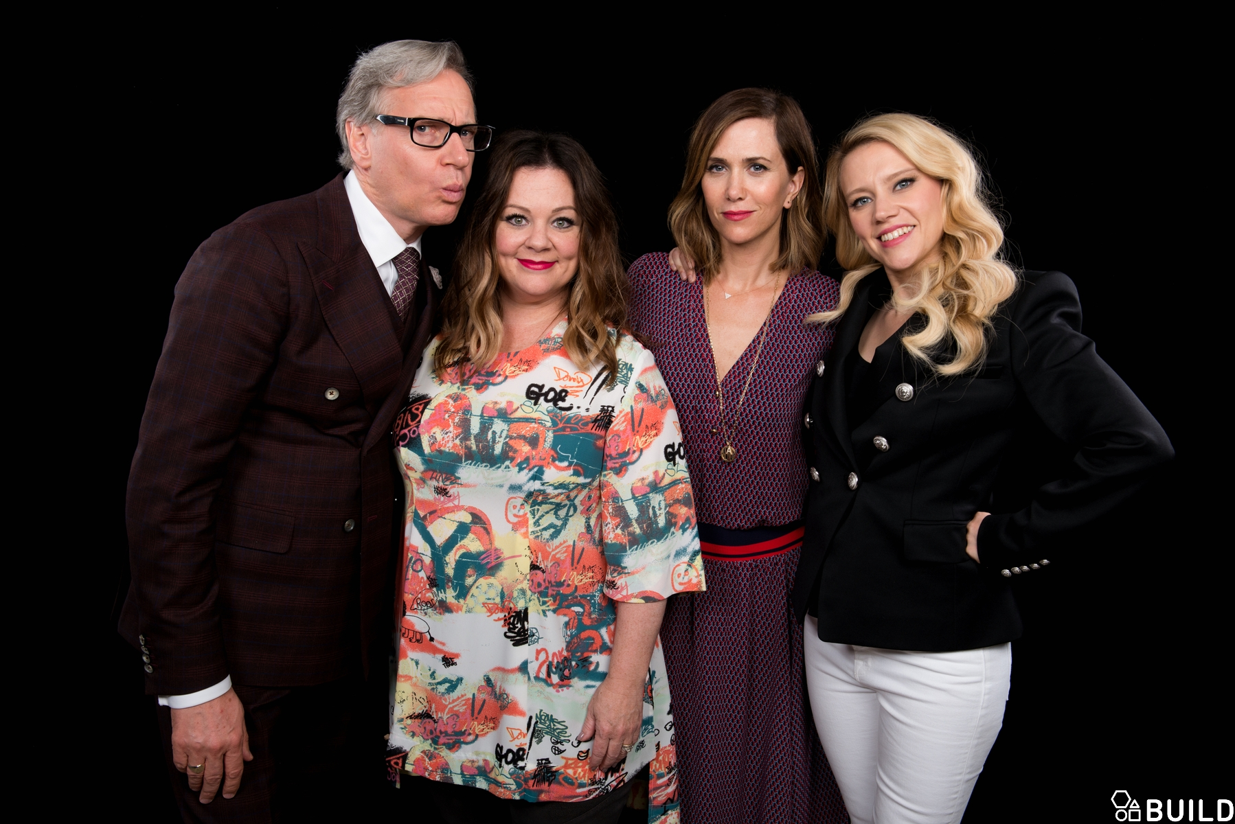Melissa McCarthy, Kristen, Kate McKinnon and Paul Feig visit AOL Hq for Build on July 12, 2016 in New York. Photos by Noam Galai