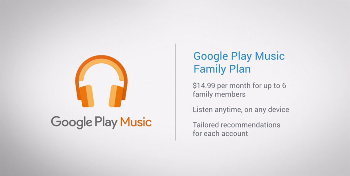 Image result for google play music family plan