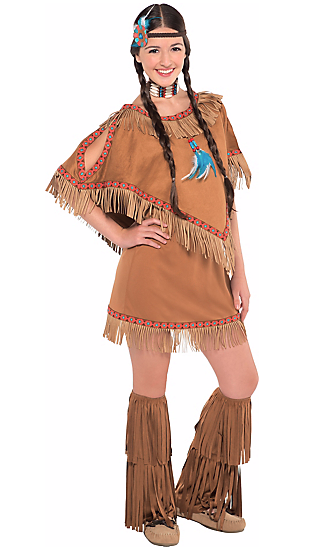 "A ""teen girls native princess costume"" from Party"