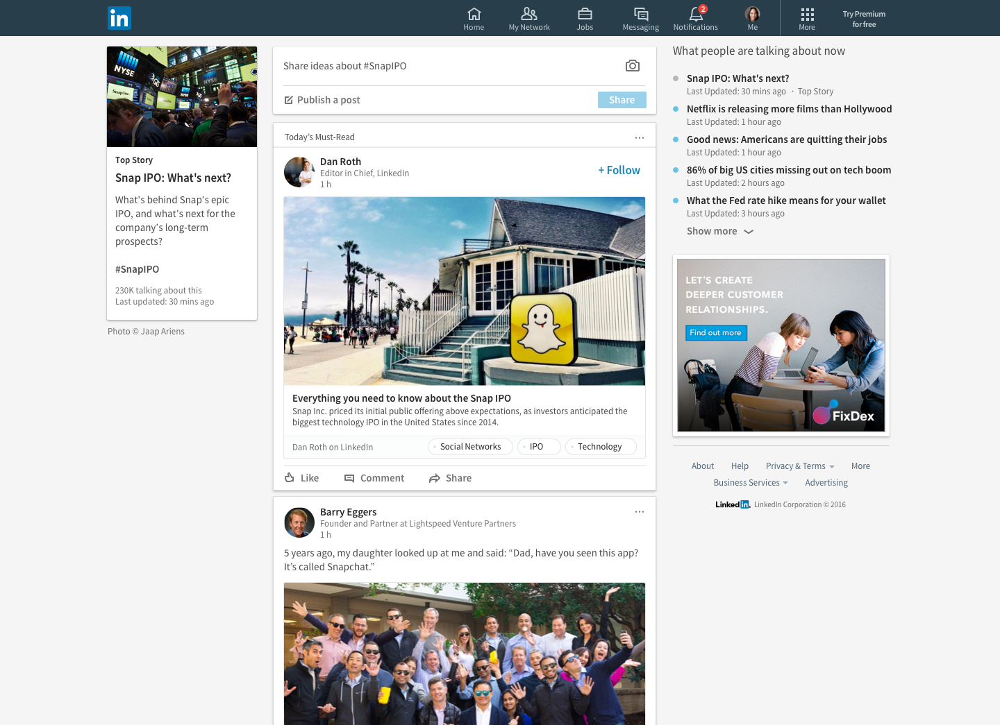 LinkedIn launches personalized news feeds with 'Trending Storylines'