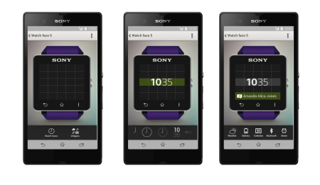 Finally, you can customize the face on your Sony Smartwatch 2