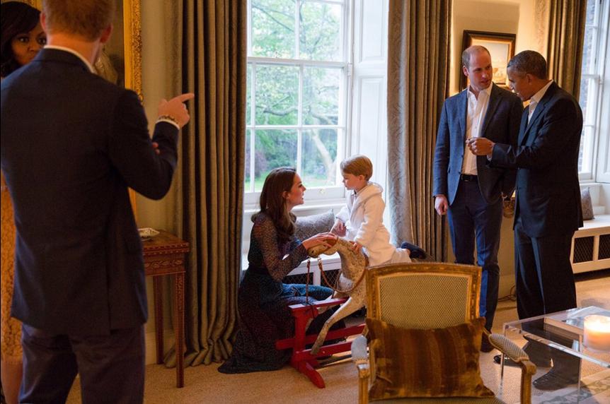 Prince George meets President Obama
