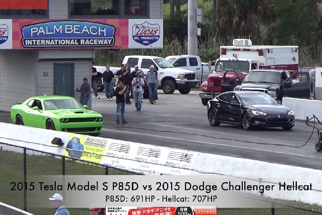 【ビデオ】ゼロヨン11.6秒! テスラ「モデルS P85D」がEVの世界最速記録を更新!!