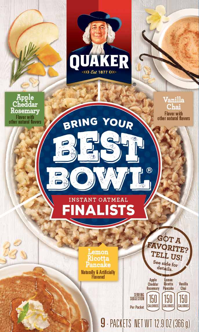 quaker oats sweepstakes 2019 quaker oats reveals the 3 finalist flavors for its bring 7464