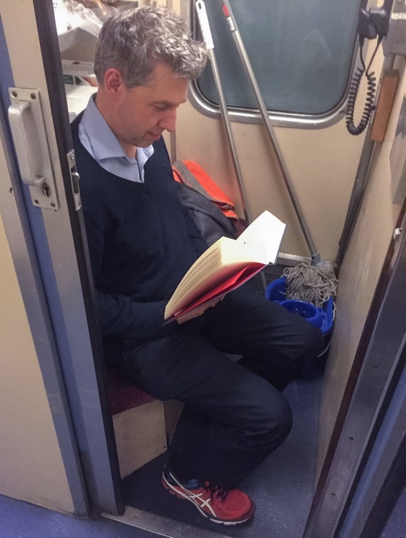 Commuter pays £6,000 a year for seat in cleaning cupboard