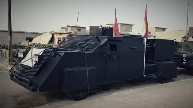 ※クルド治安部隊ペシュメルガ、イスラム国との戦いに向けて戦車を自作