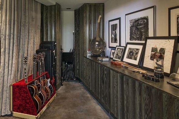 The music studio.