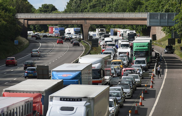 "File photo dated 18/07/15 of congestion on the M6. Britain's roads are becoming ""increasingly congested"" as new figures reveal record traffic levels, motoring experts have warned."