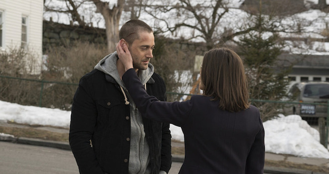"THE BLACKLIST -- ""Vanessa Cruz"" Episode 218 -- Pictured: (l-r) Ryan Eggold as Tom Keen, Megan Boone as Liz Keen -- (Photo by: Virginia Sherwood/NBC)"