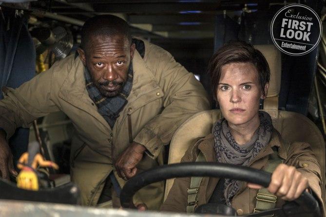 Fear The Walking Dead (2018)  Maggie Grace as Althea, Lennie James as Morgan Jones - Fear the Walking Dead _ Season 4, Episode 1 - Photo Credit: Richard Foreman, Jr/AMC