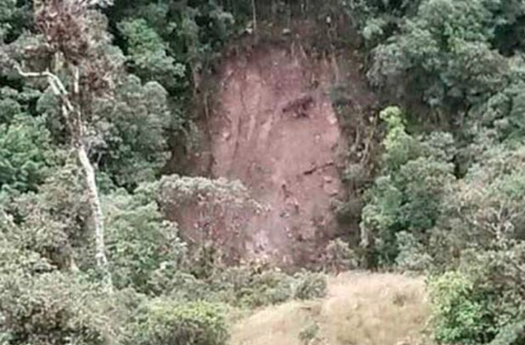 'Face of Jesus' appears in cliff after South American landslide