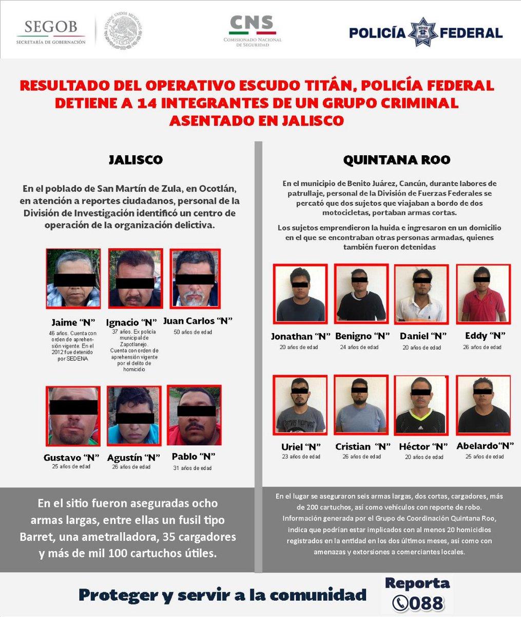 Los 14 presuntos integrantes del